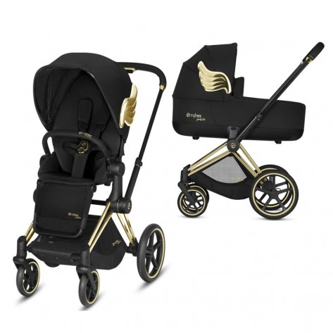 Коляска 2 в 1 Cybex Priam by Jeremy Scott Black 2019